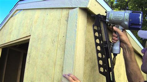 build  shed part  exterior trim install youtube