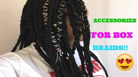 Box Braids Hairstyles Accessories by Accessories For Box Braids Ercarenee