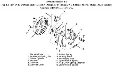 repair anti lock braking 2000 isuzu rodeo free book repair manuals service manual 2001 isuzu vehicross brake replacement system diagram 1999 isuzu rodeo
