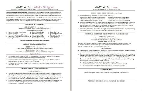 Interior Design Resume Template by Interior Design Resume Template Word Brokeasshome