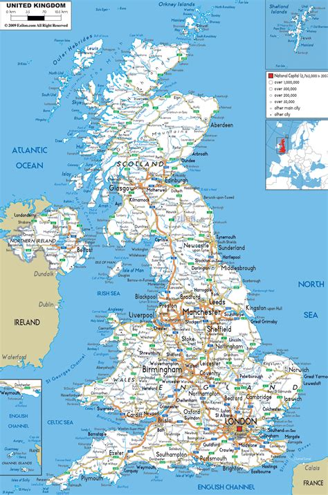 great world city map maps of united kingdom of great britain and northern