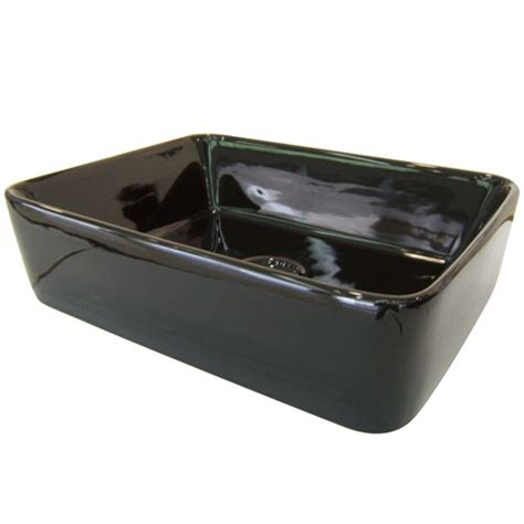 vessel sink drain without overflow kingston french black china vessel bathroom sink without