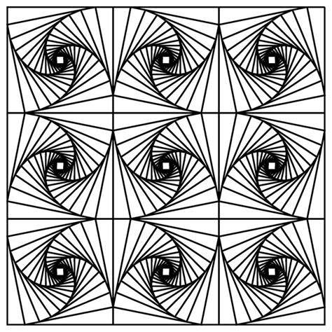 fractal coloring page coloring home