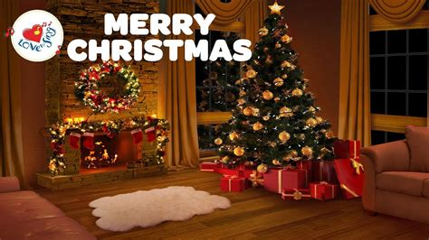 merry christmas long playlist   relaxing christmas fireplace  hours youtube
