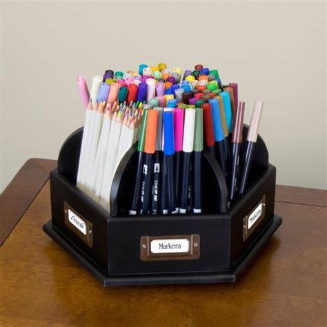 wood desktop organizer craft storage caddy desk pens