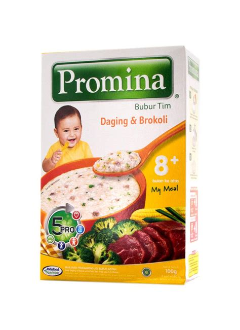 Cara Membuat Nasi Tim Promina | promina bubur bayi tim daging brokoli box 100g klikindomaret