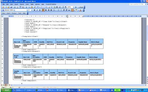 bi publisher data template sub templates in oracle bi publisher