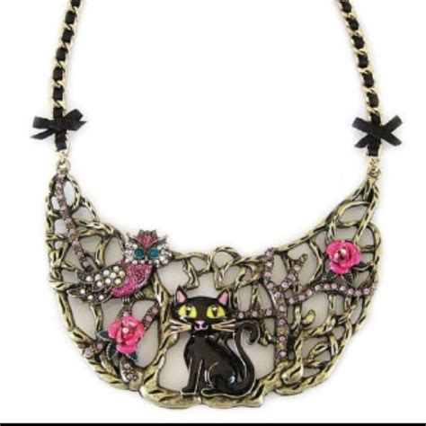 11% off Betsey Johnson Jewelry   Betsey Johnson enchanted forest cat owl half moon from Bernie's