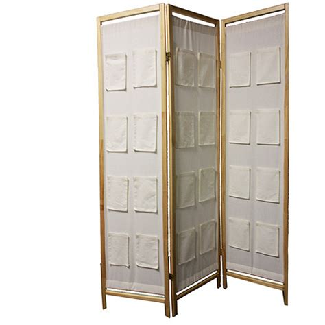 Room Separators Walmart by Ore International 3 Panel Wooden Room Divider With Pocket