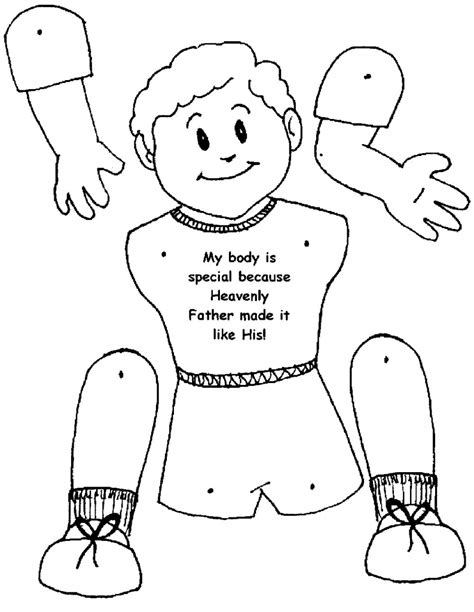 body coloring page body parts coloring page istruzione