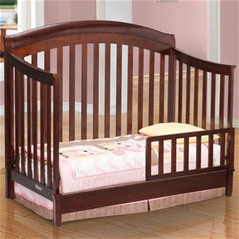 Simmons Crib Simmons Horizon Crib Toddler Guard Rail In Espresso Latte