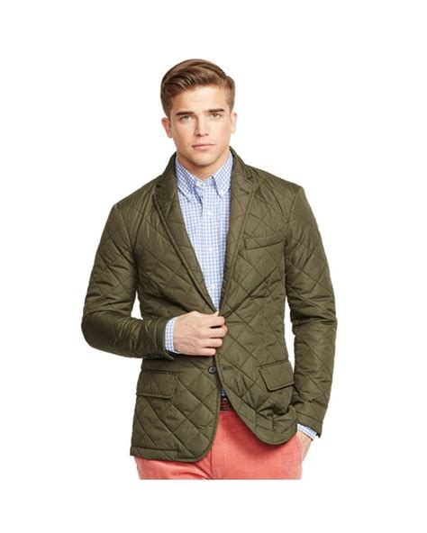 Mens Quilted Sport Coat by Polo Ralph Quilted Sport Coat In Green For