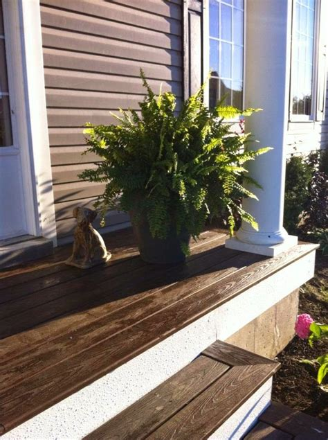 ideas  painted concrete porch  pinterest