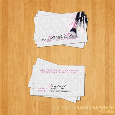 how to make artist card hair and makeup artist business cards www