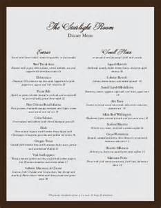 Html Header Menu Templates by Formal Dinner Menu Template Menu Card Ready To Print