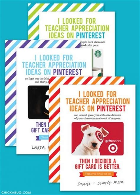 Target Gift Card Printable - teacher appreciation gift cards