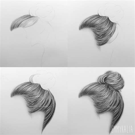 essay hair styles buns step by step video how to draw a realistic hair bun step by step