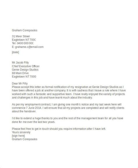 business resignation letter professional resignation letter resignation letter