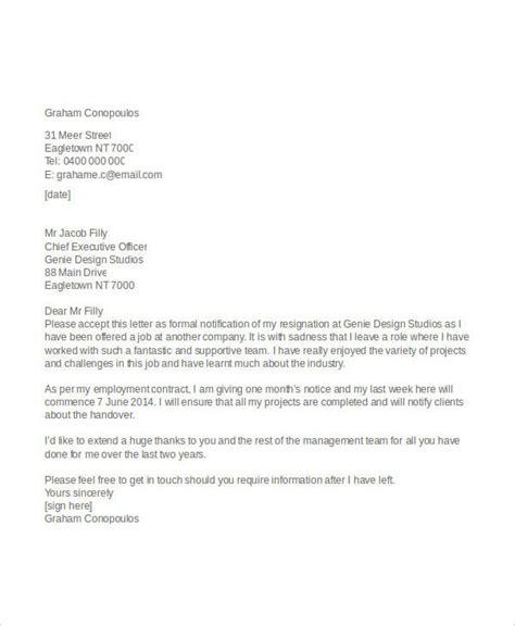 professional resignation letters 8 appreciative resignation letters free sle exle