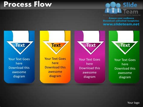 one slide presentation template process flow powerpoint presentation slides db ppt templates