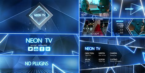 Neon Tv Broadcast Package By Davleha Videohive Broadcast After Effects Template