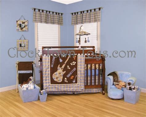 Guitar Crib Bedding 6pc Rockstar Guitar Infant Baby Crib Bedding 106530ctt