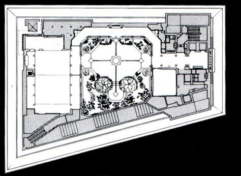 roof garden floor plan the ismaili centre b w drawing third floor plan