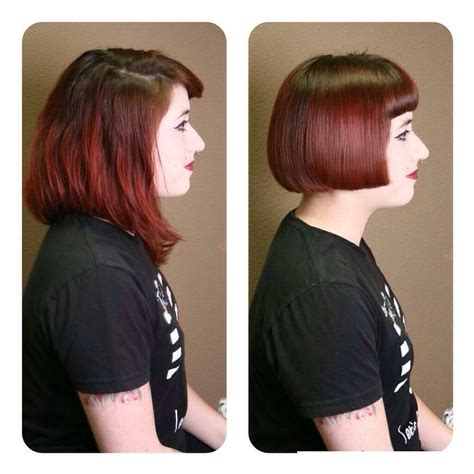Bob haircut before and after by Julie!   Yelp