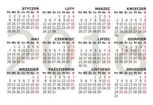 Kalendarz Ze świętami Na 2018 Rok Kalendaria 2018 Do Druku Tr 243 Jdzielne Plakatowe