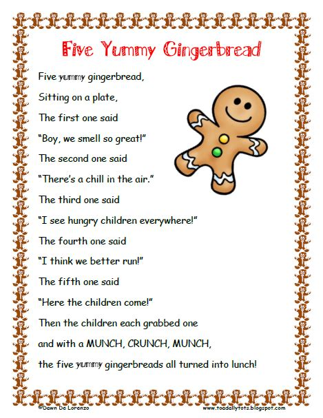 free printable christmas speeches free five gingerbread poem roll and graph product from toadally tots on teachersnotebook