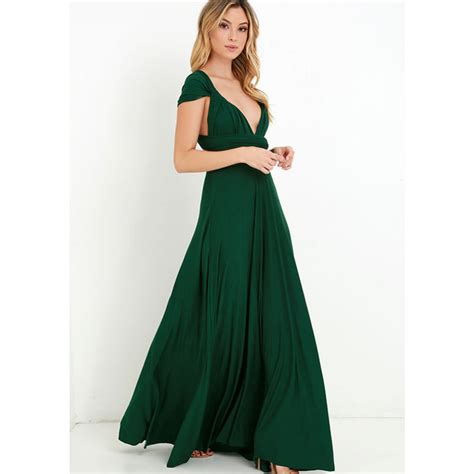 women summer long maxi dress sexy red bandage multiway