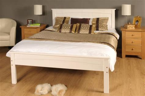 White Wooden Bed Frame King Size Bed Frames Collection On Ebay