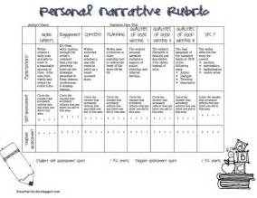 Personal Narrative Essay Exles For 5th Grade by Personal Narrative Rubric Pdf Narrative Writing