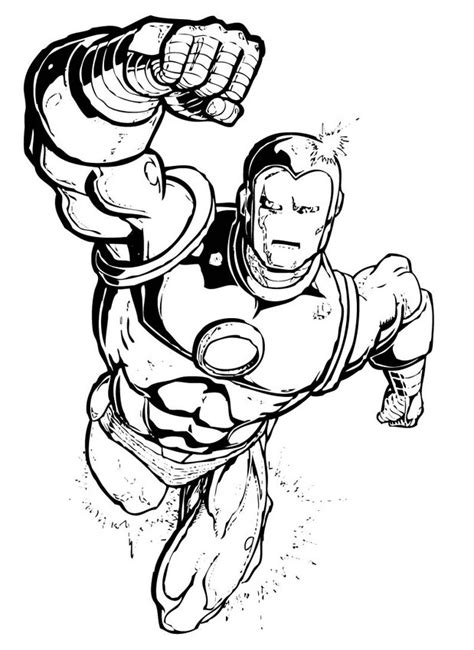 download free superhero coloring pages superhero