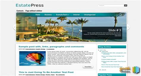 science templates for blogger estatepress blogger template 2014 free download
