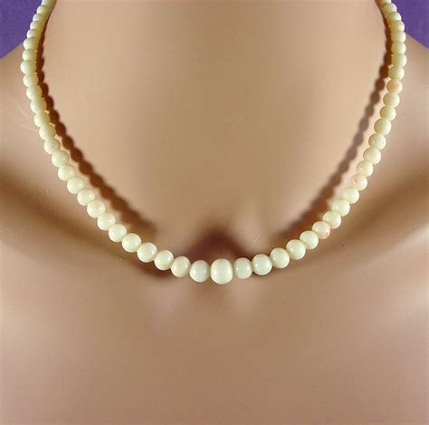 white coral bead necklace white with skin blush coral bead necklace 17