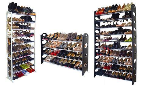 40 Pair Shoe Rack by 20 40 Or 50 Pair Shoe Rack Groupon Goods