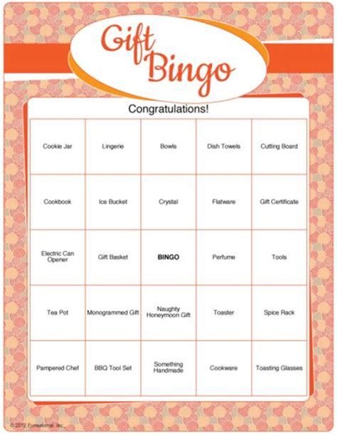 Free Printable Bridal Shower Gift Bingo Cards - printable bridal shower gift bingo bridal shower games com