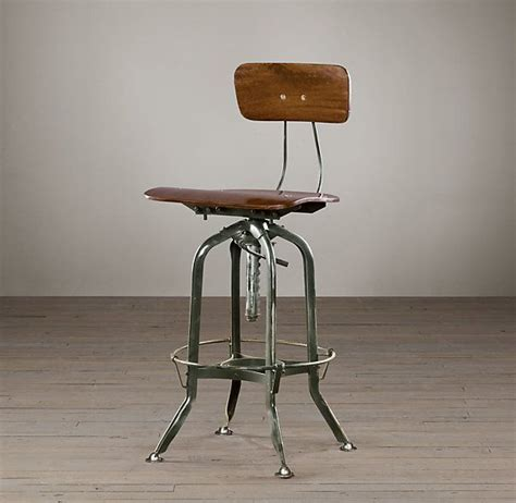 Restoration Hardware Bar Table Restoration Hardware Vintage Toledo Bar Chair Antiqued Green Need This To Go With My Drawing