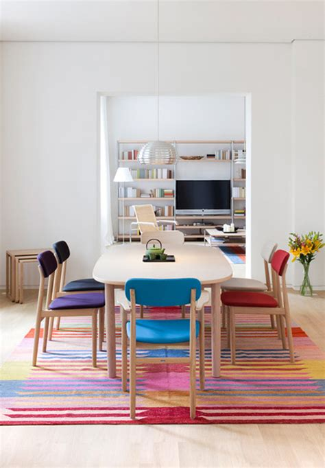 Colorful Dining Room by Colorful Dining Room With Multicolored Chairs