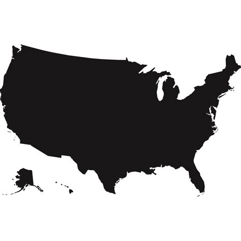 usa map black us map black and white usa map clip image 28428
