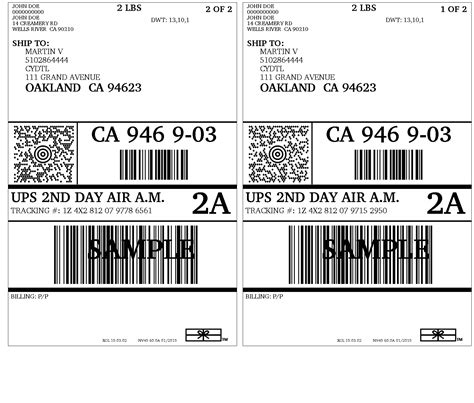 printable ups labels ups woocommerce shipping with print label shipping