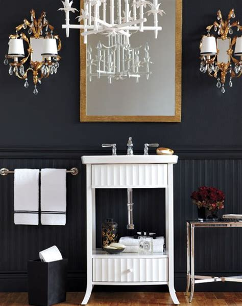 black white gold bathroom black white gold style at home bathrooms