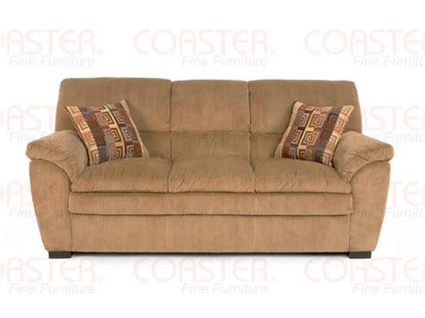 molly caramel corduroy fabric sofa by coaster 502421