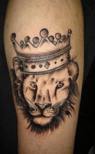 black ink crown on lion head tattoo on left arm 23 beautiful leo arm tattoos