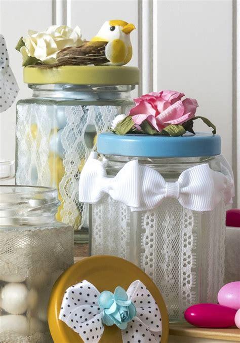 como decorar las tapas de los frascos de mayonesa como decorar frascos renda