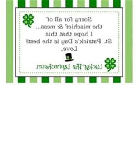 Free Printable Leprechaun Notes