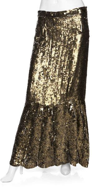 Mozza Maxi Exclusive Gold gryphon preorder exclusive sequin maxi skirt gold in brown gold lyst