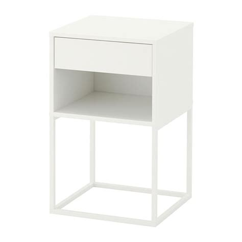 mesita de noche ikea brimnes vikhammer bedside table white 40 x 39 cm ikea