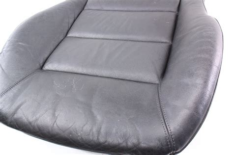 genuine leather chair pads front seat cushion cover 02 04 audi a6 c5 black